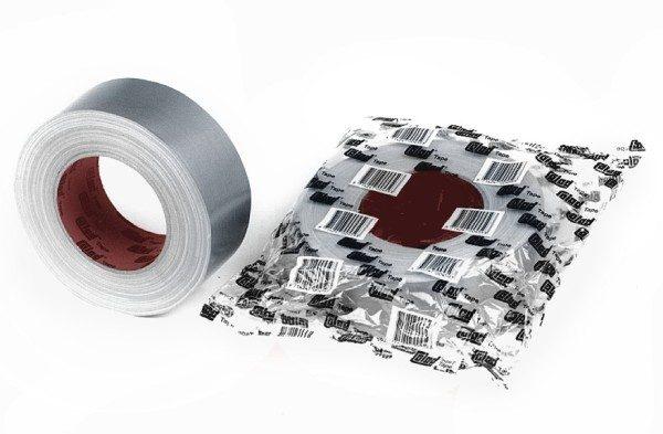 Nastro telato argento a protezione delle superfici cm omt